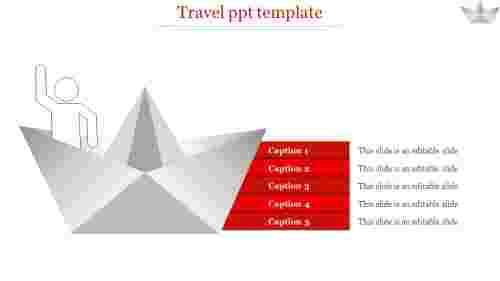 travel ppt template-travel ppt template-Red