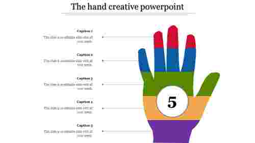 creative powerpoint-The hand creative powerpoint