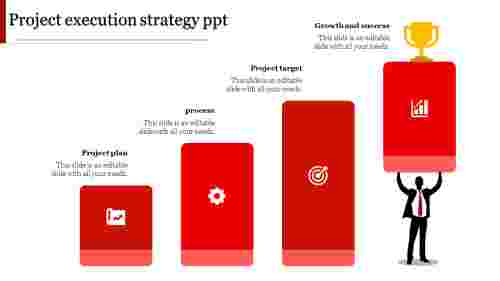 project execution strategy ppt-project execution strategy ppt-Red