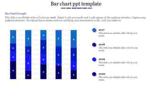 bar chart ppt template-bar chart ppt template-Blue