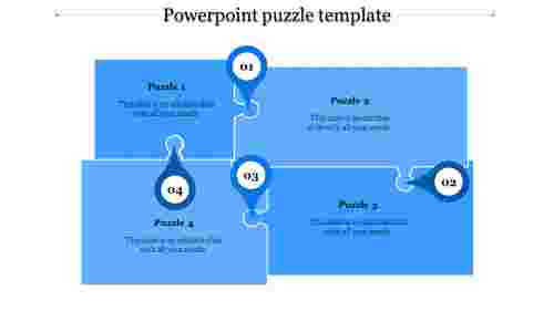 powerpoint puzzle template-powerpoint puzzle template-4-Blue