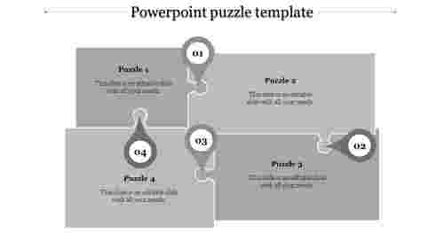 powerpoint puzzle template-powerpoint puzzle template-4-Gray