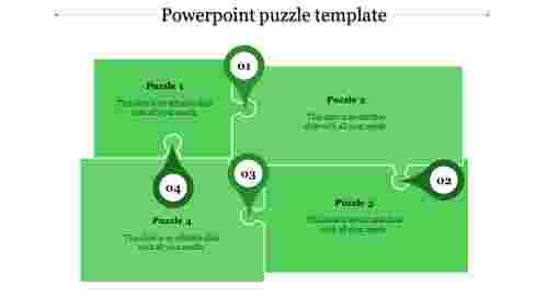 powerpoint puzzle template-powerpoint puzzle template-4-Green