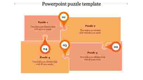 powerpoint puzzle template-powerpoint puzzle template-4-Orange