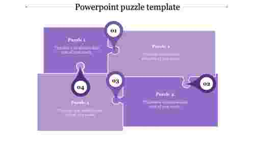 powerpoint puzzle template-powerpoint puzzle template-4-Purple