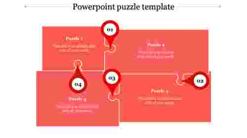 powerpoint puzzle template-powerpoint puzzle template-4-Red