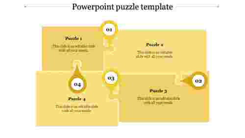 powerpoint puzzle template-powerpoint puzzle template-4-Yellow