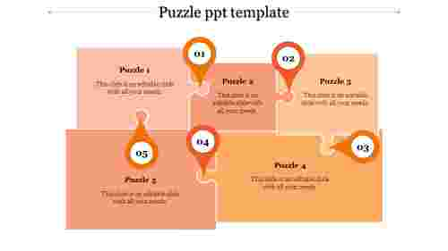 puzzle ppt template-puzzle ppt template-Orange