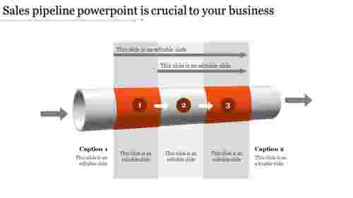 Infographic sales pipeline powerpoint