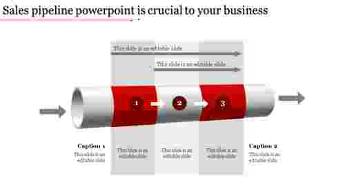 sales pipeline powerpoint-Sales pipeline powerpoint is crucial to your business-Red