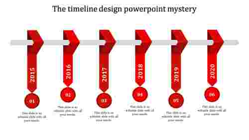 timeline design powerpoint-The timeline design powerpoint mystery-Red