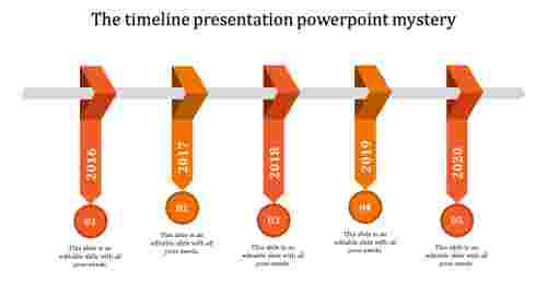 timeline presentation powerpoint-timeline presentation powerpoint-5-Orange