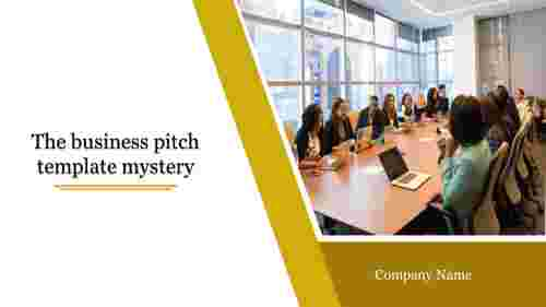 Header slide-business pitch template with businessman
