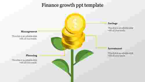 A four noded growth ppt template