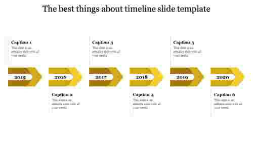 timeline slide template-6-Yellow