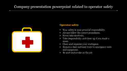 A one noded Company presentation powerpoint