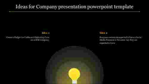 A two noded Company presentation powerpoint template