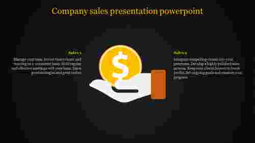 A two noded Company sales presentation powerpoint