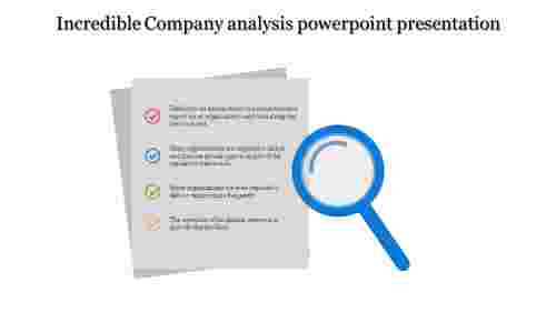 A four noded Company analysis powerpoint presentation