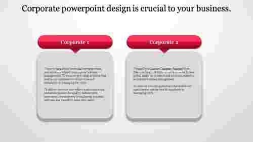 A two noded Corporate powerpoint design