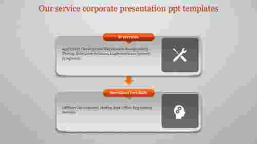 A two noded corporate presentation PPT templates