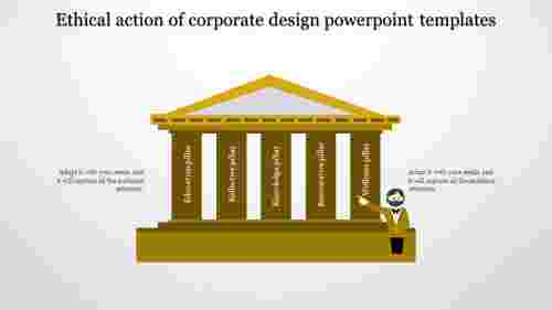 A five noded Corporate design powerpoint templates