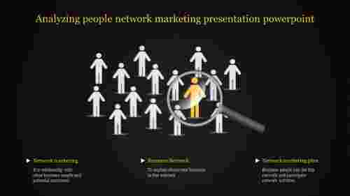 A three noded Network marketing presentation powerpoint