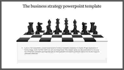 A one noded business strategy powerpoint template