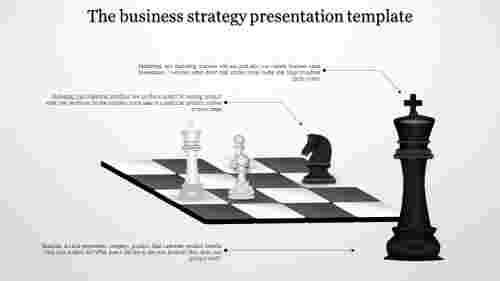 A three noded business strategy presentation template
