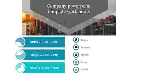 A five noded company powerpoint template