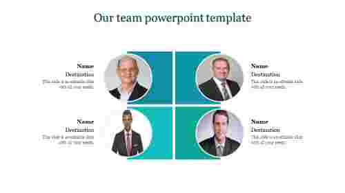 A four noded our team powerpoint template