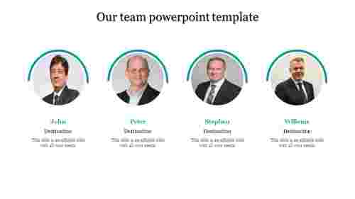A four noded team powerpoint template