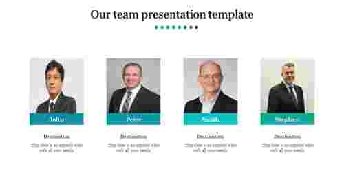 A four noded team presentation template