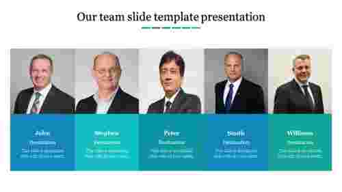 A five noded team slide template