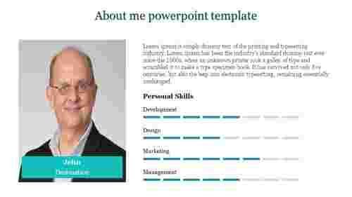 A four noded about me powerpoint template