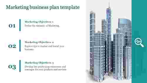 A three noded marketing business plan template