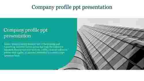 A one noded company profile PPT presentation