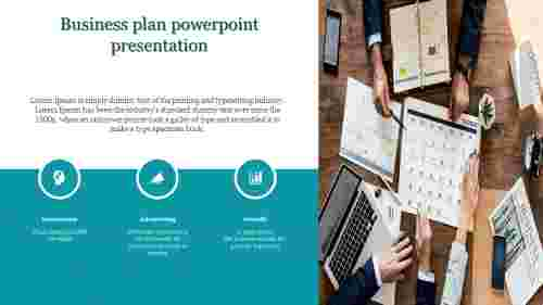 A three noded business plan powerpoint presentation