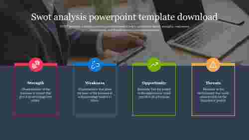 binded swot analysis powerpoint template download