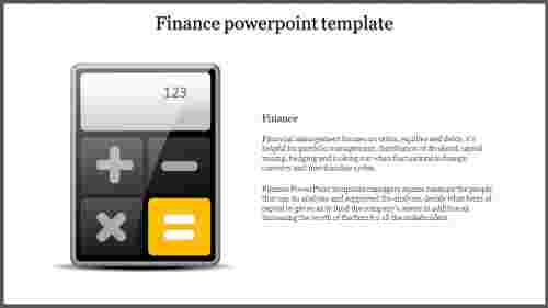 A one noded finance powerpoint template