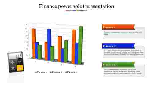 A three noded Finance powerpoint presentation