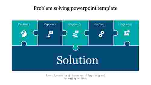 A five noded Problem solving powerpoint template