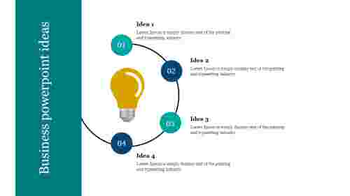 A four noded Business powerpoint ideas