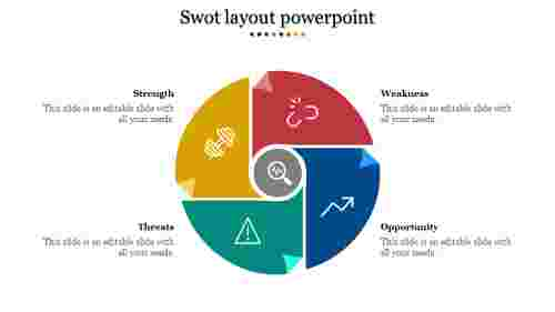 Fantastic SWOT layout powerpoint