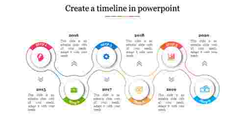 A six noded Create a timeline in powerpoint