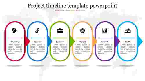 A six noded project timeline template powerpoint