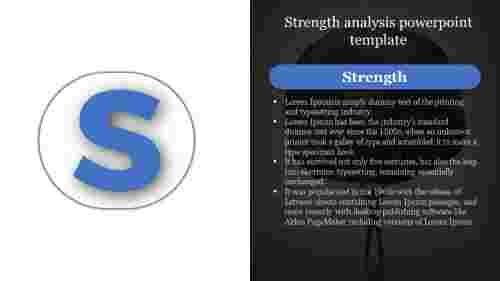 StrengthAnalysisPowerpointTemplateIsGoingToChangeYourBusinessStrategies