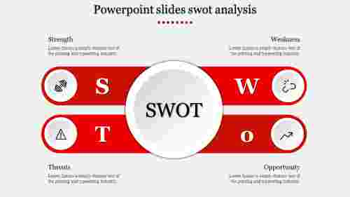 Powerpoint slides swot analysis-Red