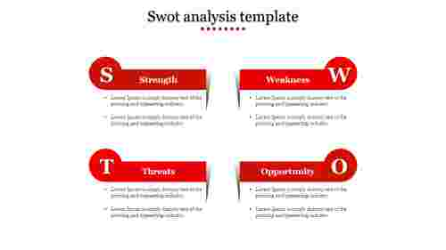 swot analysis template-Red