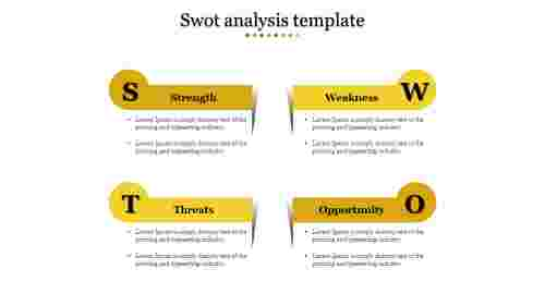 swot analysis template-Yellow
